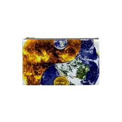 Design Yin Yang Balance Sun Earth Cosmetic Bag (small)  by Nexatart