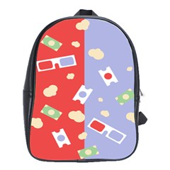 Glasses Red Blue Green Cloud Line Cart School Bags(large)