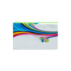 Colored Lines Rainbow Cosmetic Bag (xs) by Mariart