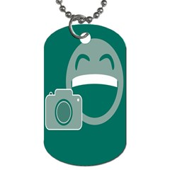 Laughs Funny Photo Contest Smile Face Mask Dog Tag (one Side) by Mariart