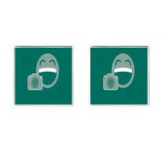 Laughs Funny Photo Contest Smile Face Mask Cufflinks (square) by Mariart