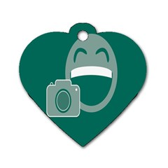 Laughs Funny Photo Contest Smile Face Mask Dog Tag Heart (two Sides) by Mariart