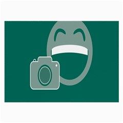Laughs Funny Photo Contest Smile Face Mask Large Glasses Cloth by Mariart