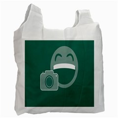 Laughs Funny Photo Contest Smile Face Mask Recycle Bag (one Side) by Mariart