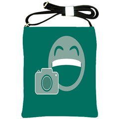 Laughs Funny Photo Contest Smile Face Mask Shoulder Sling Bags by Mariart
