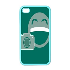 Laughs Funny Photo Contest Smile Face Mask Apple Iphone 4 Case (color) by Mariart