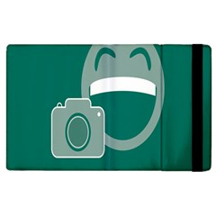 Laughs Funny Photo Contest Smile Face Mask Apple Ipad 3/4 Flip Case by Mariart