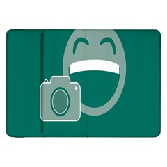 Laughs Funny Photo Contest Smile Face Mask Samsung Galaxy Tab 8 9  P7300 Flip Case by Mariart
