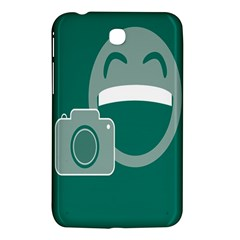 Laughs Funny Photo Contest Smile Face Mask Samsung Galaxy Tab 3 (7 ) P3200 Hardshell Case  by Mariart