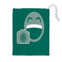 Laughs Funny Photo Contest Smile Face Mask Drawstring Pouches (extra Large) by Mariart