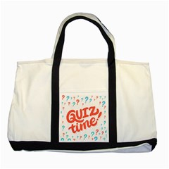 Question Mark Quiz Time Two Tone Tote Bag