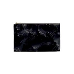 Map Curves Dark Cosmetic Bag (small)  by Mariart