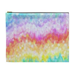 Rainbow Pontilism Background Cosmetic Bag (xl) by Nexatart