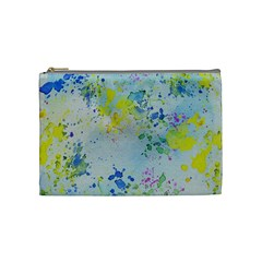 Watercolors Splashes              Cosmetic Bag by LalyLauraFLM