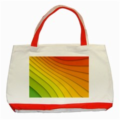 Abstract Pattern Lines Wave Classic Tote Bag (red)