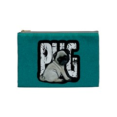 Pug Cosmetic Bag (medium)  by Valentinaart