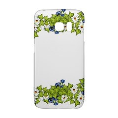 Birthday Card Flowers Daisies Ivy Galaxy S6 Edge by Nexatart