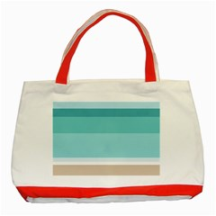 Dachis Beach Line Blue Water Classic Tote Bag (red)