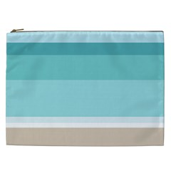 Dachis Beach Line Blue Water Cosmetic Bag (xxl)  by Mariart