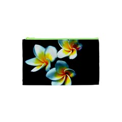 Flowers Black White Bunch Floral Cosmetic Bag (xs)