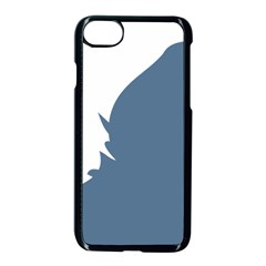 Blue White Hill Apple Iphone 7 Seamless Case (black) by Mariart
