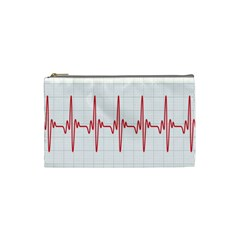 Cardiogram Vary Heart Rate Perform Line Red Plaid Wave Waves Chevron Cosmetic Bag (small)  by Mariart