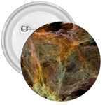 Slate Stone Fractal Earth Tone 3  Button