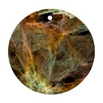 Slate Stone Fractal Earth Tone Ornament (Round)
