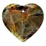 Slate Stone Fractal Earth Tone Ornament (Heart)