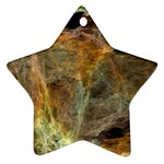 Slate Stone Fractal Earth Tone Ornament (Star)