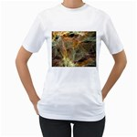 Slate Stone Fractal Earth Tone Women s T-Shirt