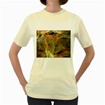 Slate Stone Fractal Earth Tone Women s Yellow T-Shirt