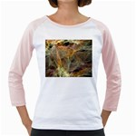 Slate Stone Fractal Earth Tone Girly Raglan
