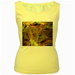 Slate Stone Fractal Earth Tone Women s Yellow Tank Top