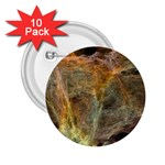 Slate Stone Fractal Earth Tone 2.25  Button (10 pack)