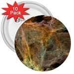 Slate Stone Fractal Earth Tone 3  Button (10 pack)
