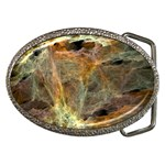 Slate Stone Fractal Earth Tone Belt Buckle