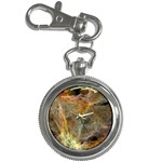 Slate Stone Fractal Earth Tone Key Chain Watch