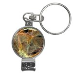 Slate Stone Fractal Earth Tone Nail Clippers Key Chain