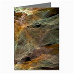 Slate Stone Fractal Earth Tone Greeting Card