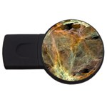 Slate Stone Fractal Earth Tone USB Flash Drive Round (1 GB)