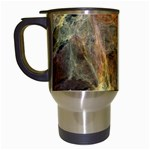 Slate Stone Fractal Earth Tone Travel Mug (White)