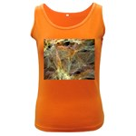 Slate Stone Fractal Earth Tone Women s Dark Tank Top