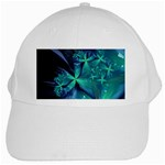 Turquoise Ice Crystal Fantasy White Cap
