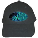 Turquoise Ice Crystal Fantasy Black Cap