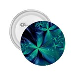 Turquoise Ice Crystal Fantasy 2.25  Button