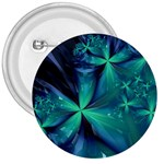Turquoise Ice Crystal Fantasy 3  Button