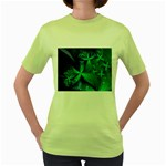 Turquoise Ice Crystal Fantasy Women s Green T-Shirt