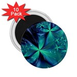 Turquoise Ice Crystal Fantasy 2.25  Magnet (10 pack)