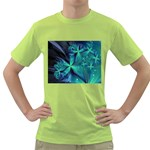 Turquoise Ice Crystal Fantasy Green T-Shirt